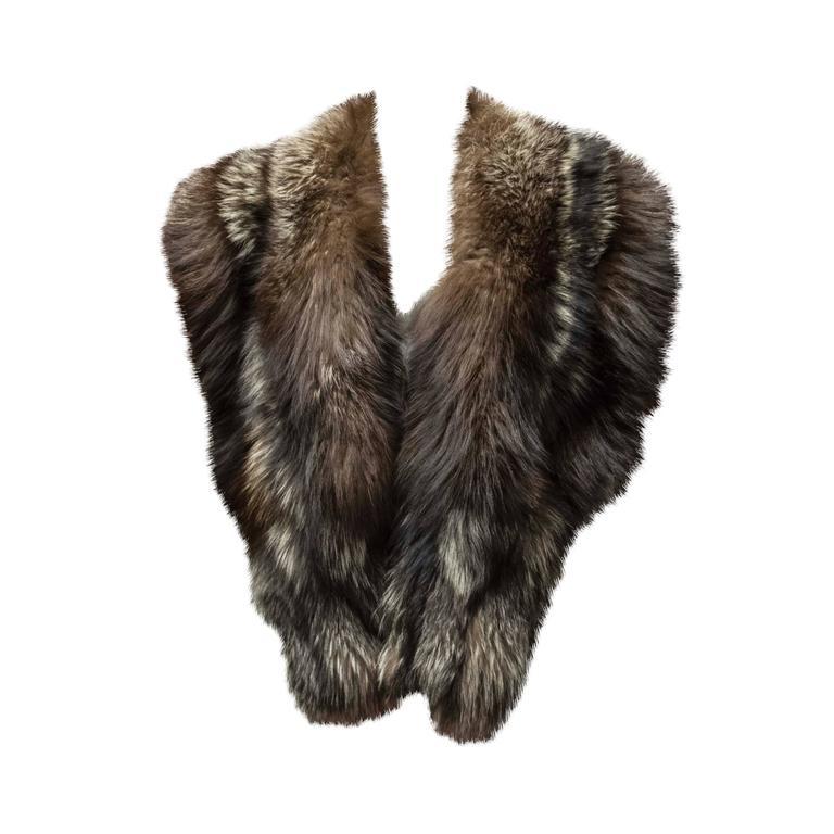 Silver Fox Fur Wrap For Sale