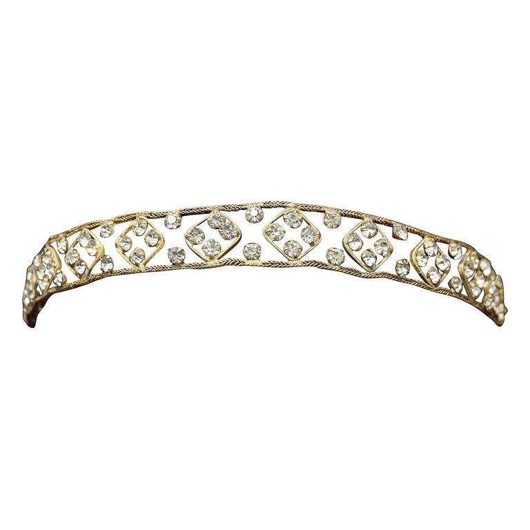 1920s Crystal Headband   For Sale