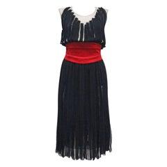 Givenchy silk chiffon corseted evening dress, c. 2007