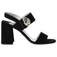 Prada Woman Sandals Black Leather IT 40