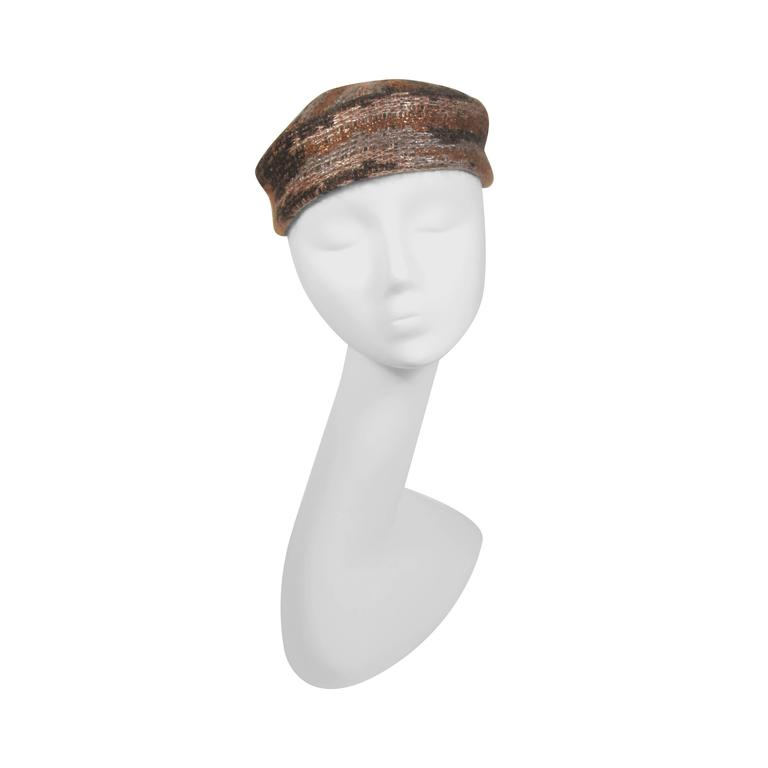 9792bc14205 MISSONI Brown Multi Color Bronze Mohair Blend Hat For Sale at 1stdibs