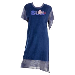 Vivienne Westwood Blue Securite Time for Change Unisex Terry Cloth Crochet Dress
