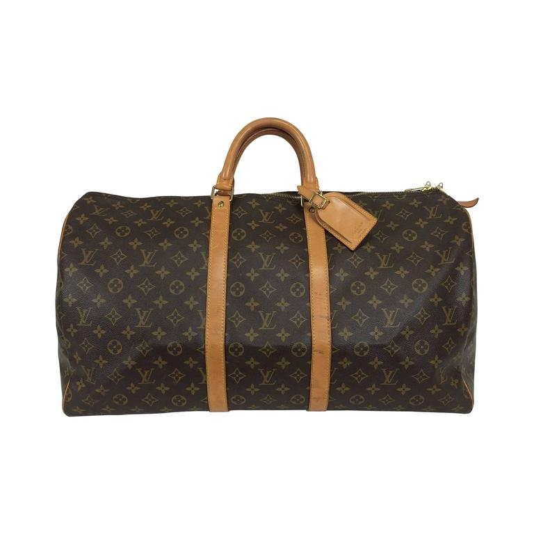 f7cf884317d4 Louis Vuitton monogram canvas Keepall 55 For Sale at 1stdibs