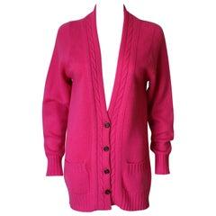 Saint Laurent Pink Cashmere Medium Size