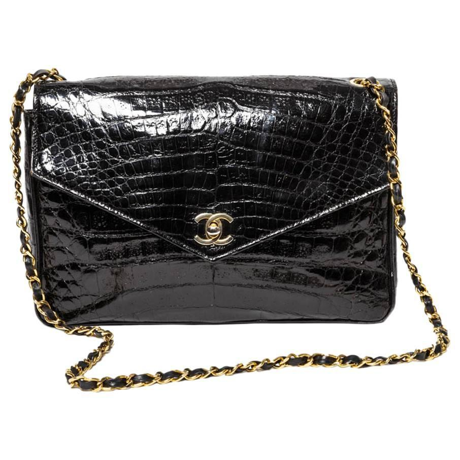 chanel vintage croc handbag enlighten