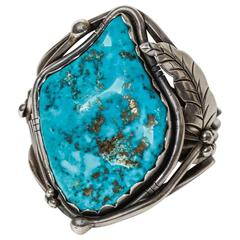 Vintage American Indian Turquoise Cuff