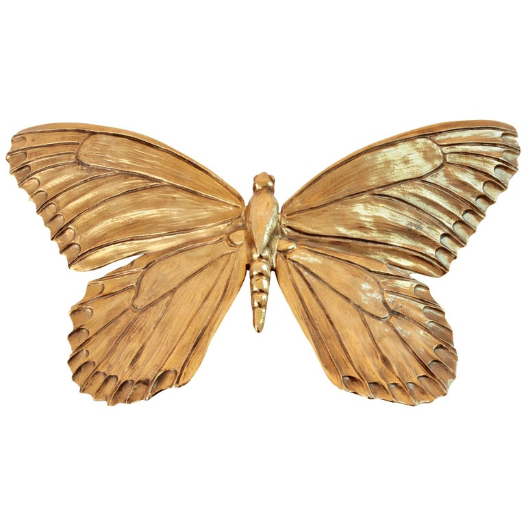 Christopher Ross Butterfly Belt Buckle 24ct Gold Plate Monumental 8in Long 80s 1
