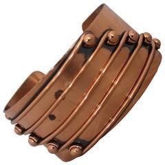 "Renoir Vintage Copper ""Streamline"" Cuff Bracelet - 1950's"