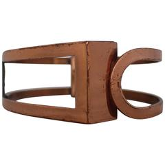 """Matisse Vintage Copper """"Fenestra"""" Bracelet - 1950's"""