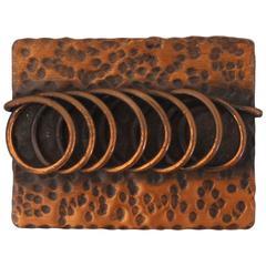 Rebajes Vintage Hammered Copper w/ Coil Pin - 1950's