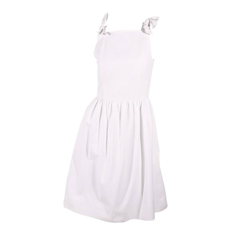 1980s Chanel Dress White For Sale