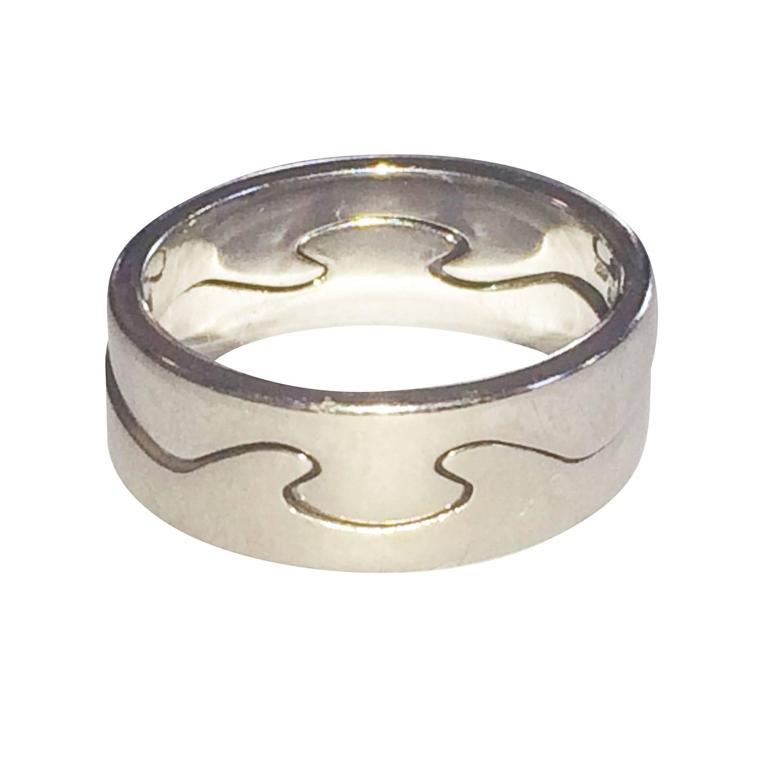 Georg jensen white gold two part fusion ring at 1stdibs for Georg jensen wedding rings