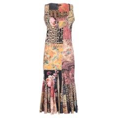 1990s Roberto Cavalli Printed Dress