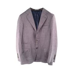 BRUNELLO CUCINELLI 36 Regular Purple Wool Blend Notch Lapel Sport Coat