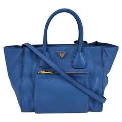 PRADA Shoulder bag in Blue Leather