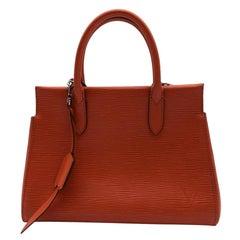 LOUIS VUITTON Marly Handbag in Orange Leather