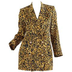 Gianni Versace Couture Leopard Blazer, 1990s