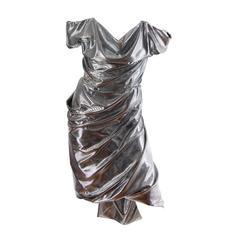 Vivienne Westwood Strapless Silver Corset Dress