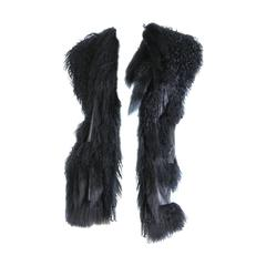 Avant Guard Lamb Fur and Leather Vest