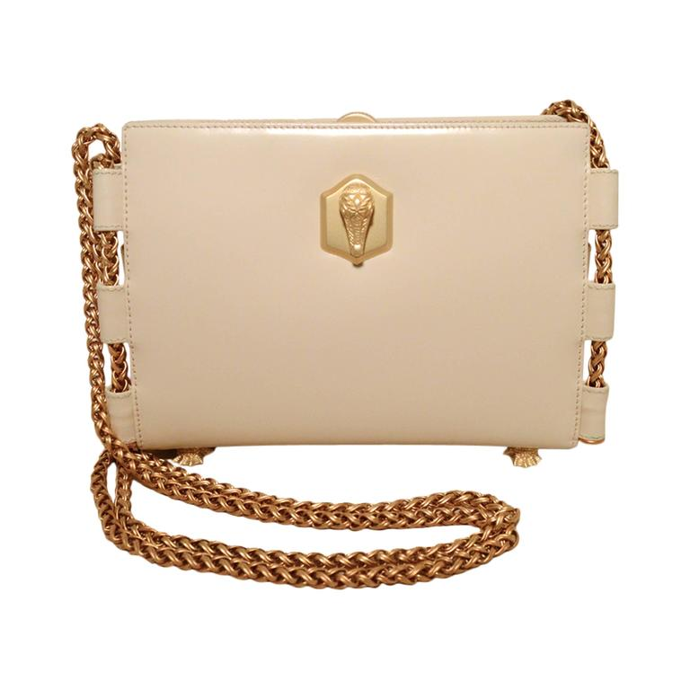 Barry Kieselstein-Cord Cream Leather Shoulder Bag