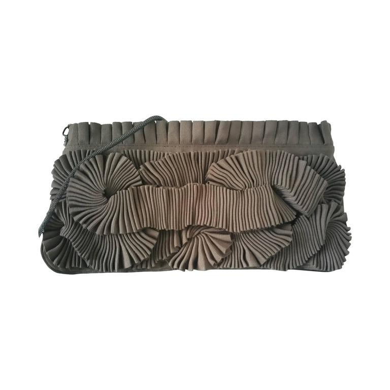 1stdibs Kara Ross Beige Lizard Bar Clutch qg87IhdDD