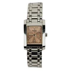 Fendi Stainless Steel 7000 L Women Wrist Watch Rectangular