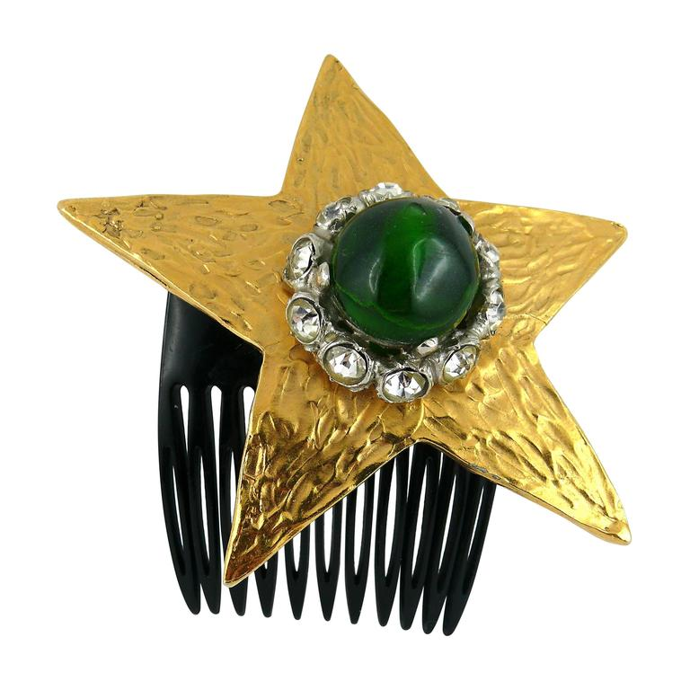 Yves Saint Laurent Attributed Vintage Rare Star Hair Comb For Sale
