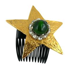 Yves Saint Laurent Attributed Vintage Rare Star Hair Comb