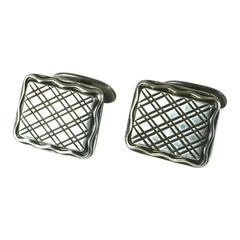 Attractive Design Silver Cufflinks