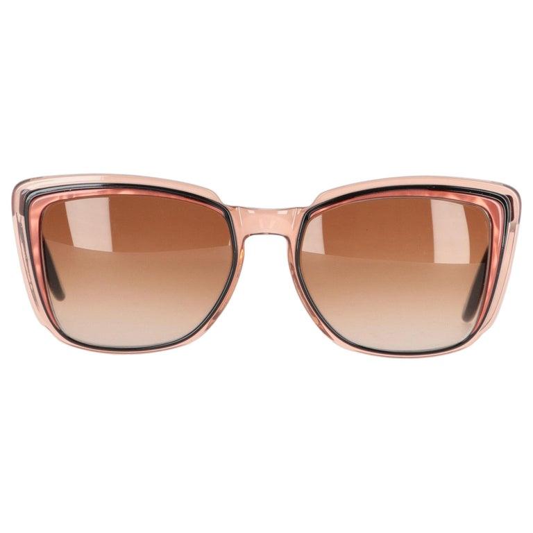 1970s Yves Saint Laurent Bicolor Sunglasses For Sale
