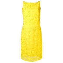 1990s Versace Yellow Midi Dress