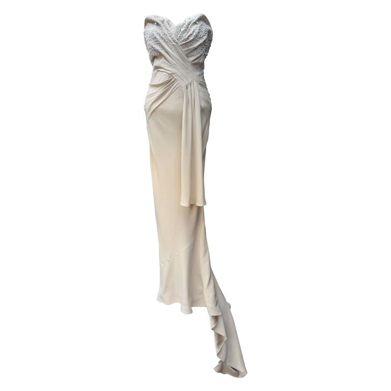 Spring 2008 Christian Dior Evening Gown in Ivory Silk 1