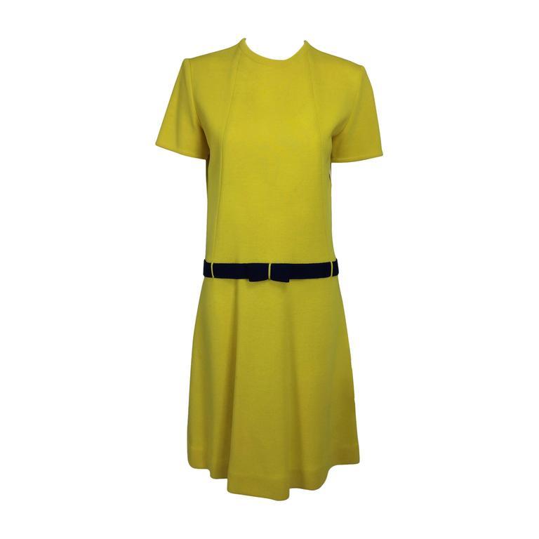 Early 1970s Bill Blass colour block mod knit dress For Sale