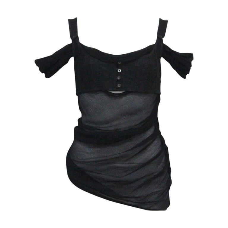 Alexander McQueen black bra top, c. 2004 1