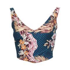 Vivienne Westwood cotton corset with oriental print, c. 1990s