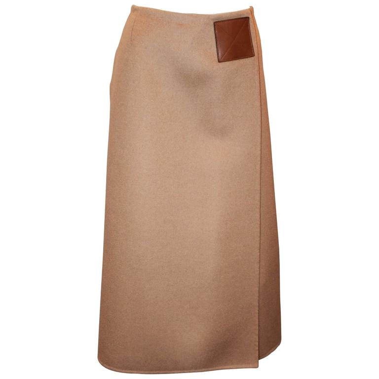 11db83c7cde Michael Kors Vintage Camel Hair Wrap Skirt - 8 - circa 1990 s at 1stdibs