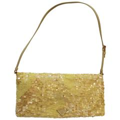Yellow Sequined Prada Handbag