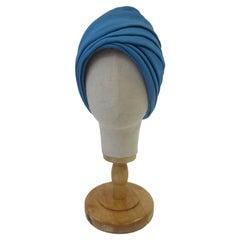 1970 Leslie James Cobalt Blue Turban