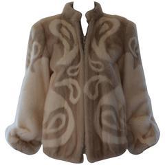 Adolfo Paisley Mink Jacket