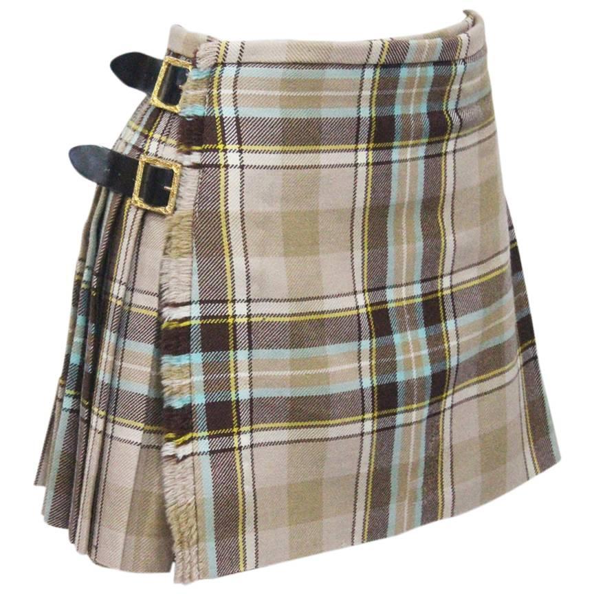 vivienne westwood tartan pleated mini skirt c 1994 at