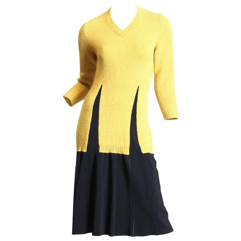Jean Paul Gaultier Deconstructed Sweater Dress