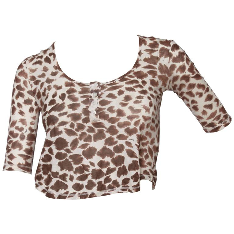 1990s Alexander McQueen Cropped Blouse