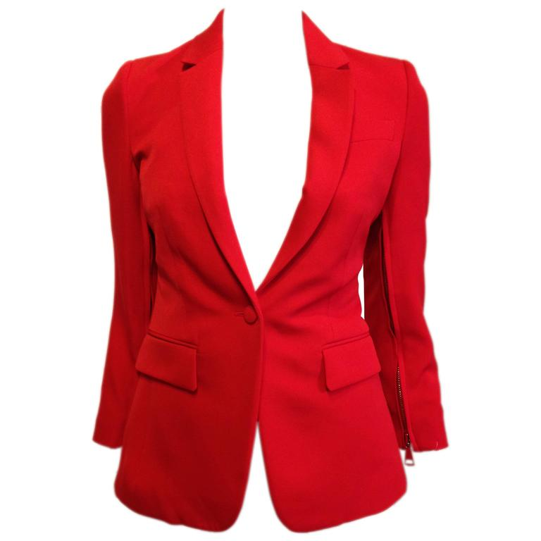 Givenchy Vermillion Red Blazer