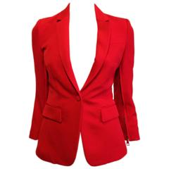 Givenchy Vermillion Red Blazer