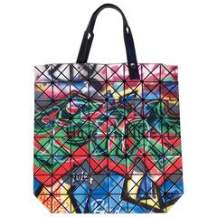 Issey Miyake Blue and Pink Graffiti Bao Bao Bag