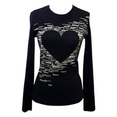 Moschino Jeans Black White Jersey Top