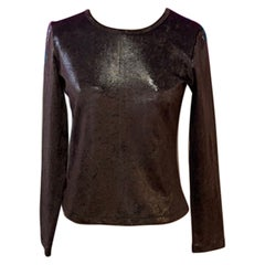 Moschino Cheap And Chic Brown Long Sleeve Top