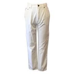 Moschino White High Waist Vintage Mom Jeans