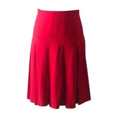 Moschino Cheap Chic Red Pleated Skirt