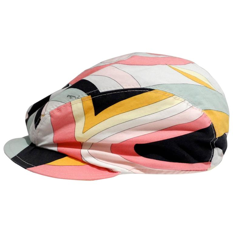 1980s Emilio Pucci Newsboy Cap For Sale